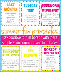 How To Plan A Simple Fun Summer For Your Kids And You Free