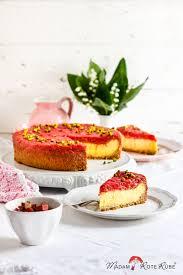 grießpudding kuchen mit rhabarberkompott
