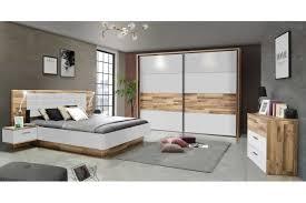 forte modern way schlafzimmer set weiß stabeiche möbel