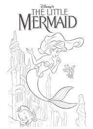 Coloring Download My Little Mermaid Pages 4kraftykidz Home Page Birthday Pinterest Disney Line Drawings