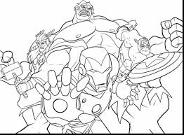 Brilliant Marvel Avengers Coloring Pages Printable With Super Hero Page And Superhero