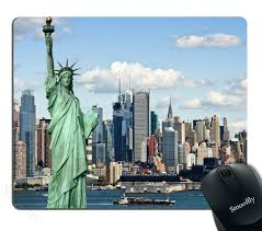 100 New York Pad Smooffly Mouse Statue Of Liberty In NYC Harbor Urban City Print Famous Cultural Landmark Picture Customized Rectangle NonSlip Rubber