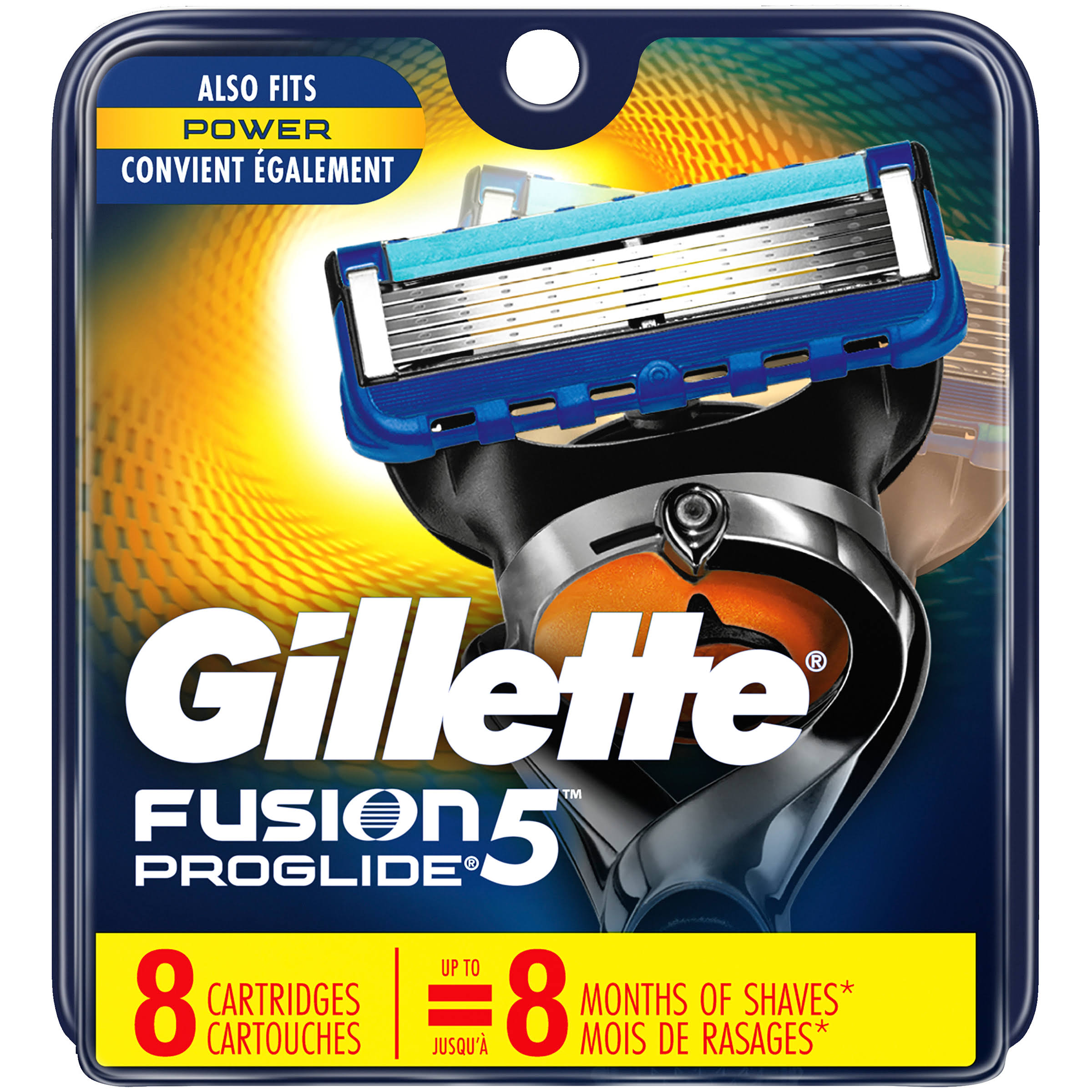 Gillette Fusion ProGlide Manual Men's Razor Blade Refills - 8ct