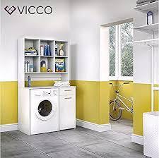 vicco waschmaschinenschrank kombination badregal badschrank