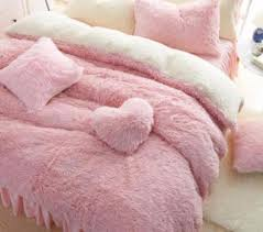Plush Fluffy Pink Bed Set BED48 New Product – Summer Beach Styles