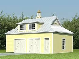 006G 0138 Country Style 2 Car Garage Plan With Loft