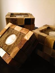 3 Rustic Scrap Candle Holders Sweet Pallet Block By Palletso 4500