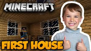In This Video Today Cute Kid Simas Play Minecraft Survival Mode With His DadI Build My First House Ever Dad