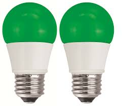 tcp 5w equivalent green led a15 regular shaped light bulbs non