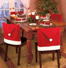 Christmas Santa Red Square Top Chair Covers, Christmas Hat Covers ... Subrtex Plaid Stretch Ding Room Chair Covers Slipcovers Shabby Chic Oversized Slipcover Knit Spandex Fabric Polyester Protective Kitchen Seating Parson Ikea Fxdlh 100 Butterfly For Weddingbanquet2pc High Back Ding Room Chair Covers House Wallpaper Hd Seat Leather How To Re Cover A Astonishing Table Your Home Design Shop Stretchy Thicken Plush Short