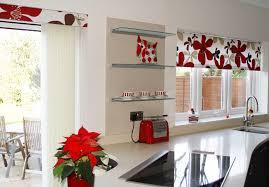 Modern Kitchen Curtains Flowers