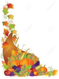 Thanksgiving Corner Border Clipart