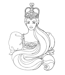 Girls Coloring Pages Barbie Queen