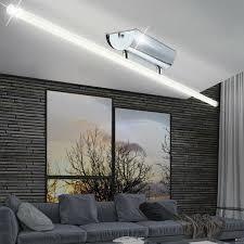 led design decken alu leuchte wohnzimmer chrom aluminium le büro flur küchen