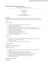 Sample Resume Lecturer Computer Science