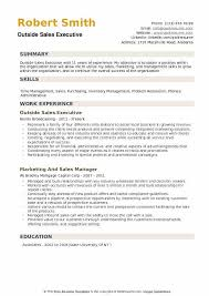 Outside Sales Executive Resume Format Download PDF