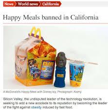 kalifornien verbietet spielzeug in mcdonalds kindermenü