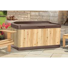 Suncast Outdoor Patio Furniture by Furniture Wooden Suncast Deck Box Ideas With Brown Seat Plus
