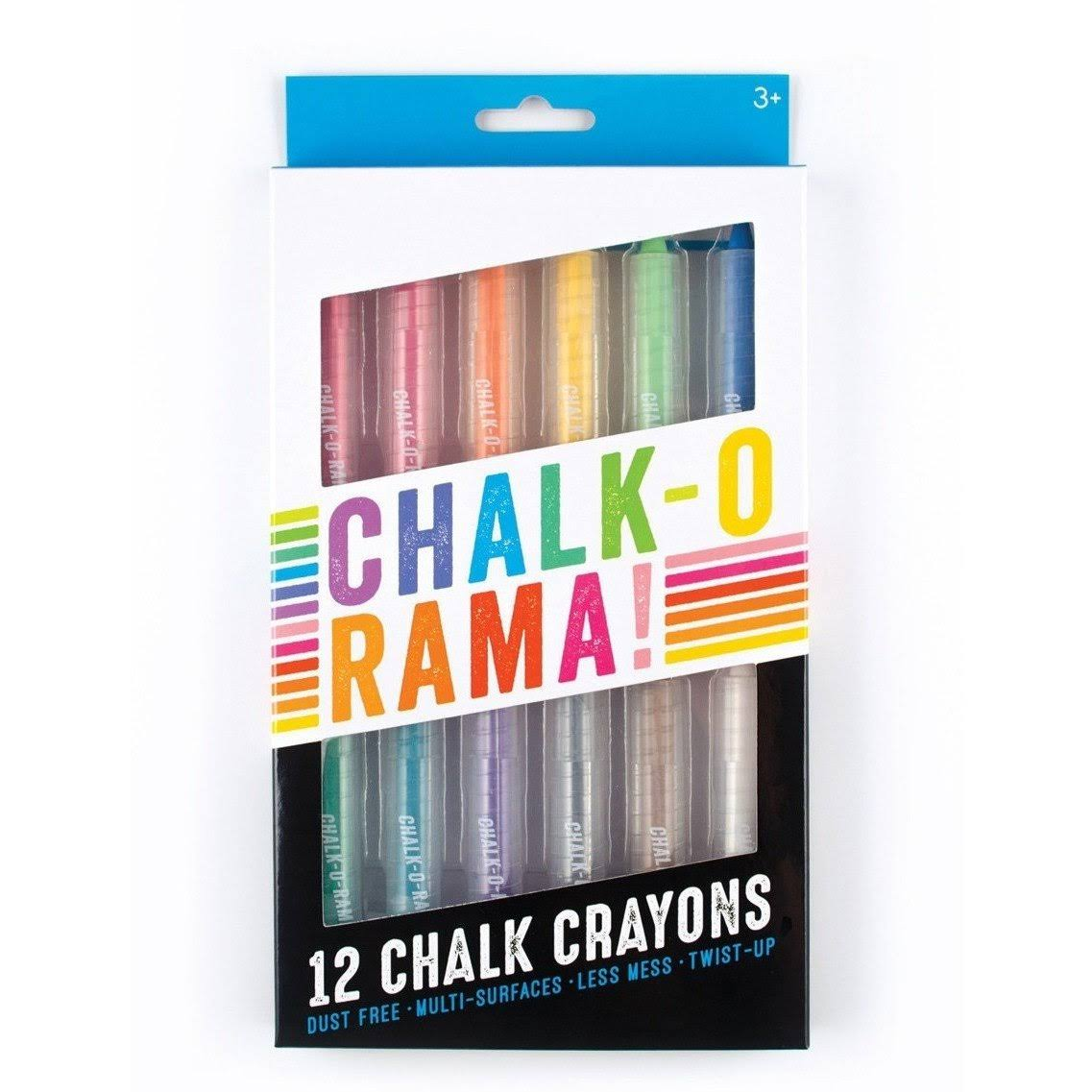 Ooly Chalk-o-rama Chalk Crayons - Set of 12