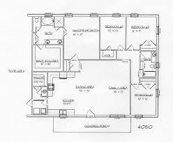 charming design 40 x 60 4 bedroom house plans 1 40x60 barndominium