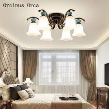 amerikanischen stil retro blau keramik decke le hotel wohnzimmer studie europäischen klassische garten decke le