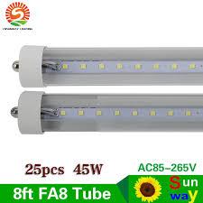 fa8 single pin 8ft led light 2 4m 8ft t8 led fluorescent