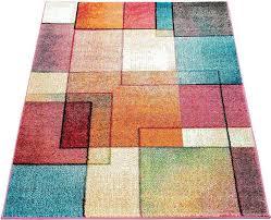 teppich ece 933 paco home rechteckig höhe 14 mm kurzflor karo design wohnzimmer kaufen otto