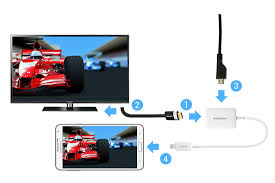How do I connect my Samsung smartphone to my TV using the MHL 2 0