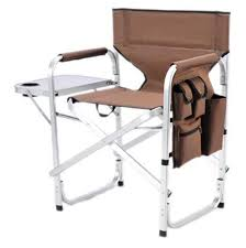 Ming's Mark SL1204-BROWN Folding Director's Chair- Brown