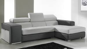 canapé d angle convertible italien canapé d angle en cuir noir et blanc pas cher canapé angle design