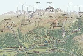 100 Muottas Muragl Panoramic Map Engadin St Moritz