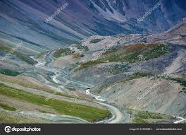 Barskoon Gorge Beautiful View Mountains Kyrgyzstan Central Asia ...