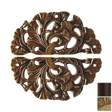 Cabinet Hardware Backplates Brass by Shop Notting Hill 2 Pack Antique Brass Florid Leaves Cabinet