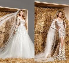 2017 new designer mermaid wedding dresses detachable skirt full