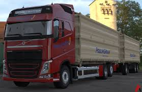 3D Volvo FH Tandem Grain Transport Combo Model 3D Model ...