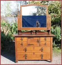 Antique Birdseye Maple Dresser With Mirror by Voorhees Craftsman Mission Oak Furniture Antique Arts And Crafts