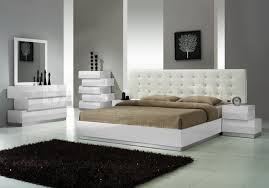 milan 5 pc bedroom set in white lacquered finish by j m bedroom