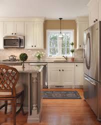 white color travertine kitchen backsplash featuring white