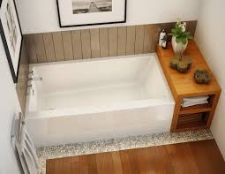 small bathtubs and wall mount tub faucets with wood cabinet also