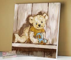 tableau ourson chambre bébé tableau ourson voiture pour chambre de bébé vente de tableaux
