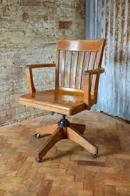 Vintage Captains Swivel And Tilt Desk Chair American Made Oak Chair
