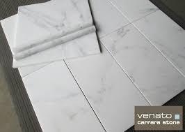 6 X 12 Beveled Subway Tile by Venato Carrara 12 12 U2033 And 6 12 U2033 Marble Tile 7 00sf The