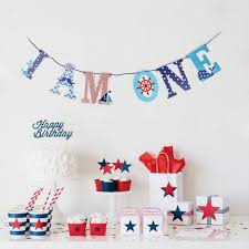 I AM ONE High Chair Banner Bunting Garland Nautical Theme ...