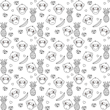 Today Begins The Chinese Year Of Monkey Thats Why I Created A Free Printable Coloring Page For You Therefore Ive Drawn Some Cute Faces