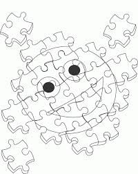 The Boy Was Crafting Puzzles Coloring Pages