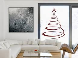 wandtattoos als weihnachtsdeko wände und fenster