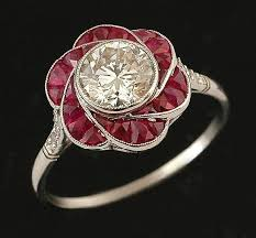 deco ruby and ring 2315 best vintage rings images on rings jewels and