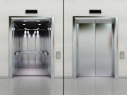 Open and closed elevator stock photo Image of close