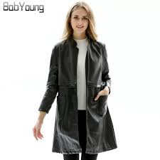 compare prices on long black leather jacket online shopping buy