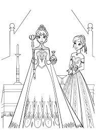 Frozen Coloring Pages Queen Elsa